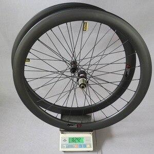 Image 5 - Dysk węglowy koła filar 1423 mówił Novatec D411/D412 piasty 6 śruby lub centralny zamek Cyclocross koła żwiru zestaw kół rowerowych