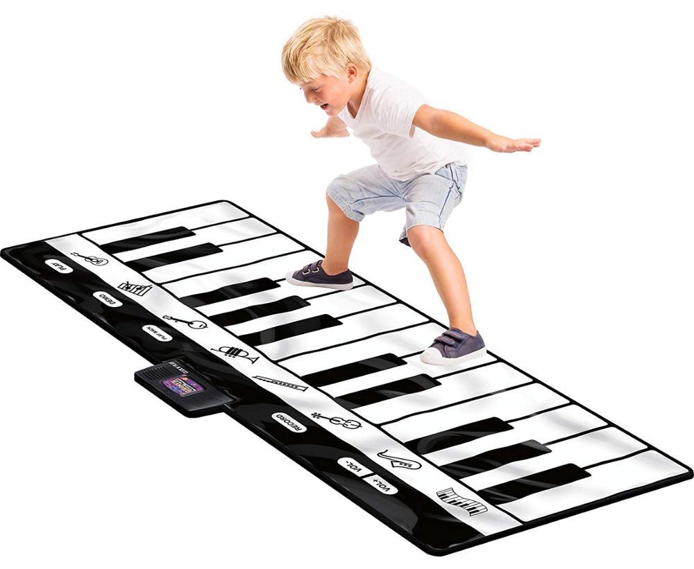 Tapis de jeu de clavier gigantesque, tapis de Piano 24 touches, 8 Instruments de musique sélectionnables + jeu-enregistrement-lecture-mode démo