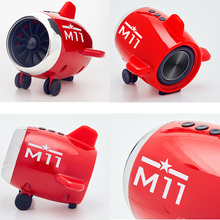 Mini Bluetooth Speaker Airplane Style Bass Stereo Portable Wireless SP99