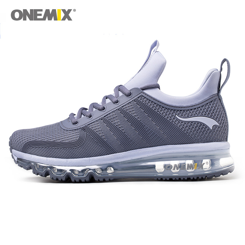 ONEMIX Men Running Shoes Women KPU Mesh Air Sole Athletic Trainers Tennis Sports Boots Cushion Outdoor Road Walking Sneakers 47 women sneakers men running winter thermal shoes ultra light damping air sole walking outdoor training sports shoes plus 36 45