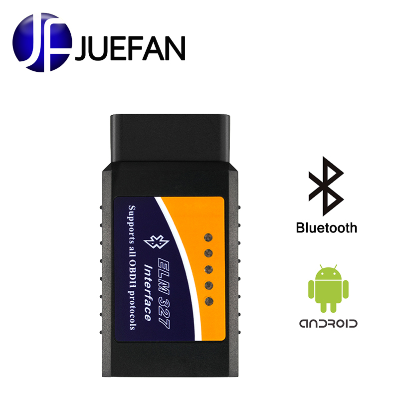 Free shipping OBD2 OBD-II elm327 bluetooth obd2 diagnostic tool ELM 327 V2.1 Bluetooth Car Interface Scanner Works On Android