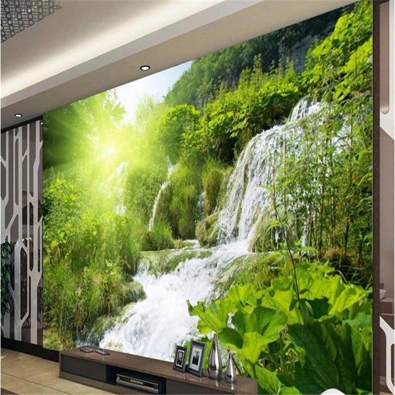 Beibehang Large Custom Wallpapers Outdoor Landscape Waterfalls Mural Background Wall Papel De Parede Infantil Menino