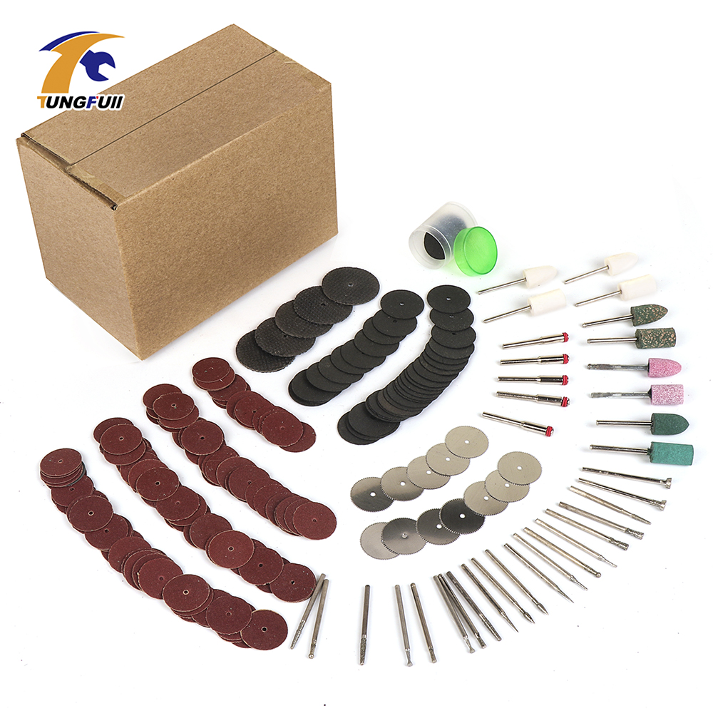 Tungfull 288pcs Abrasive Tools Power Tools For Grinding Polishing Cutting Electric Dremel Style Rotary Tool Accessories