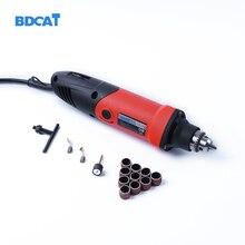 BDCAT 400W Enchufe europeo mini taladro eléctrico con 6 posiciones velocidad Variable dremel herramientas rotativas con mini herramientas de máquina de molienda