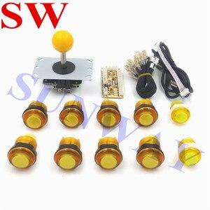 Image 1 - Miễn phí Vận Chuyển TỰ LÀM Arcade BỘ Arcade Sanwa phong cách joystck và LED nút giao diện USB 1 cầu thủ MAME Giao Diện USB để Jamma