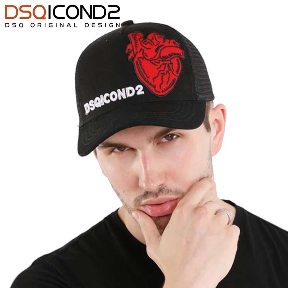 DSQICOND2 Brand Casual Snapback Baseball Caps Casquette Gorras for Men Women DSQ Black Trucker Cap Summer Letter Hip Hop Dad Hat