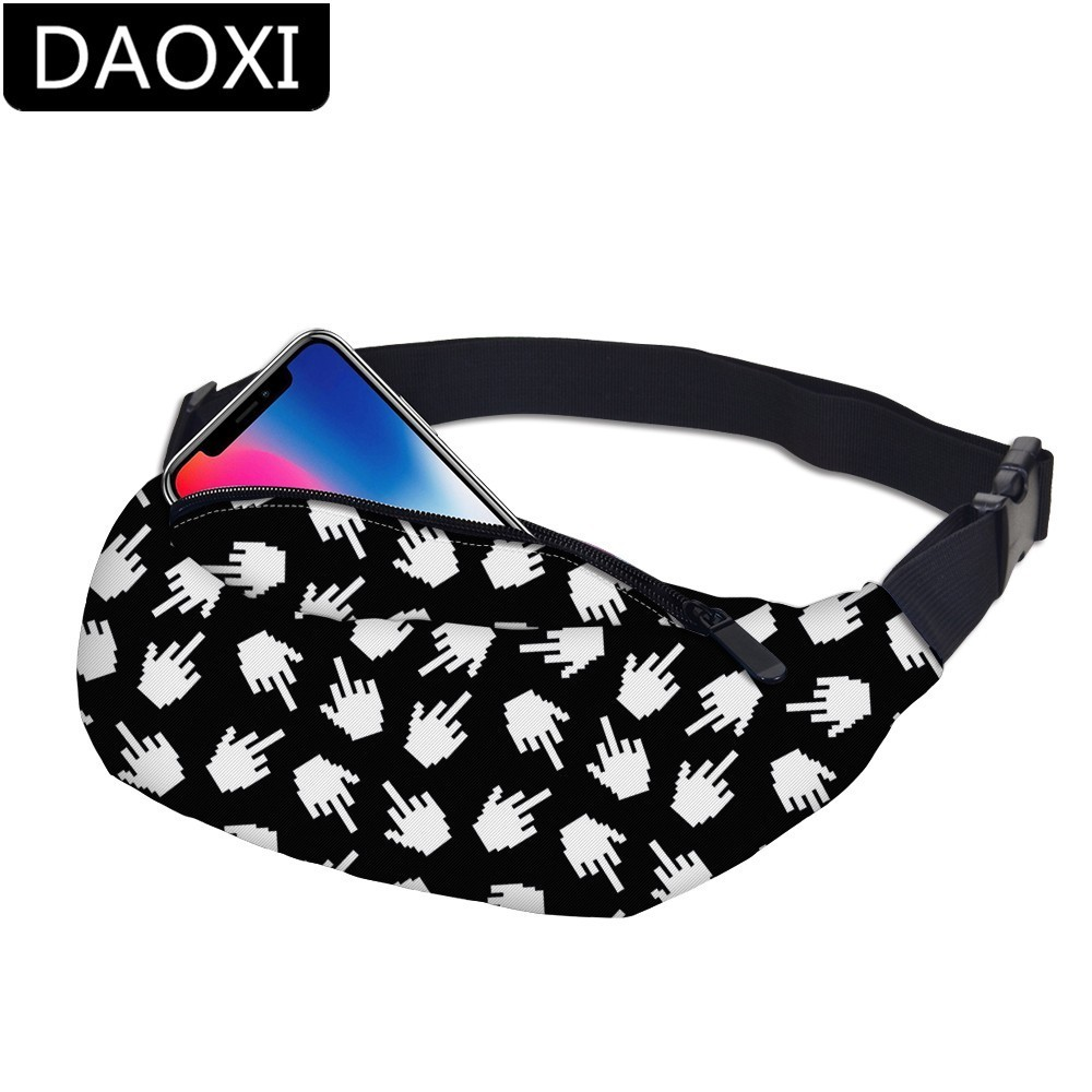 DAOXI Fanny Pack Cute Festival Bum Bags Travel Waist Belt Purse Bag Adjustable Band for Outdoors DXYB-10(China)