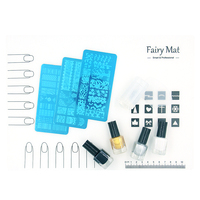 Professional Nail Art Silicon Fairy Mat Work Shop Protector Pad Nail Stamp Templates Stamper Scraper Stamping