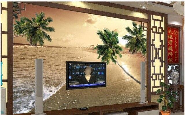 Barato Papel Pintado De Paisaje 3d Papel Para Habitación Tv