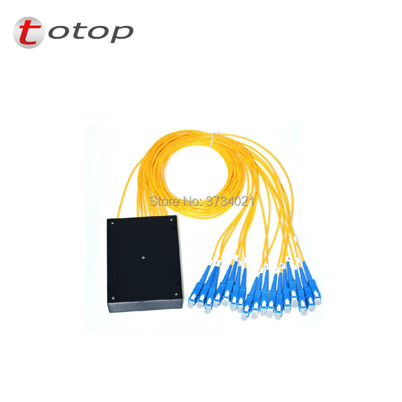 ABS SC UPC MINI PLC 1X16 Single mode LC fiber optic splitter FBT Optical Couple with best quality