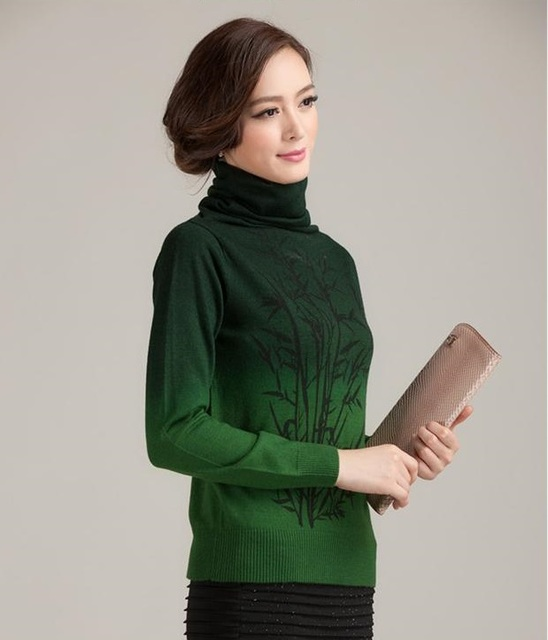 Hot New Women Winter Crochet Knitted Cashmere Pullovers Branch