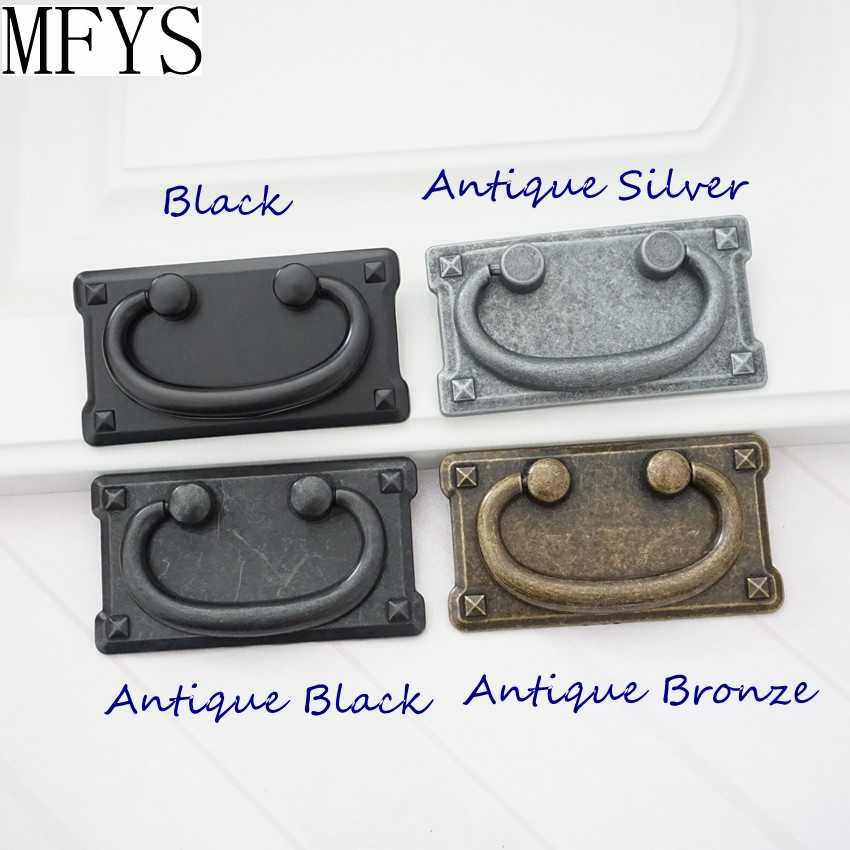Antique Bronze Cabinet Drawer Knob Pull Ring Square Furniture Door Pull Handle