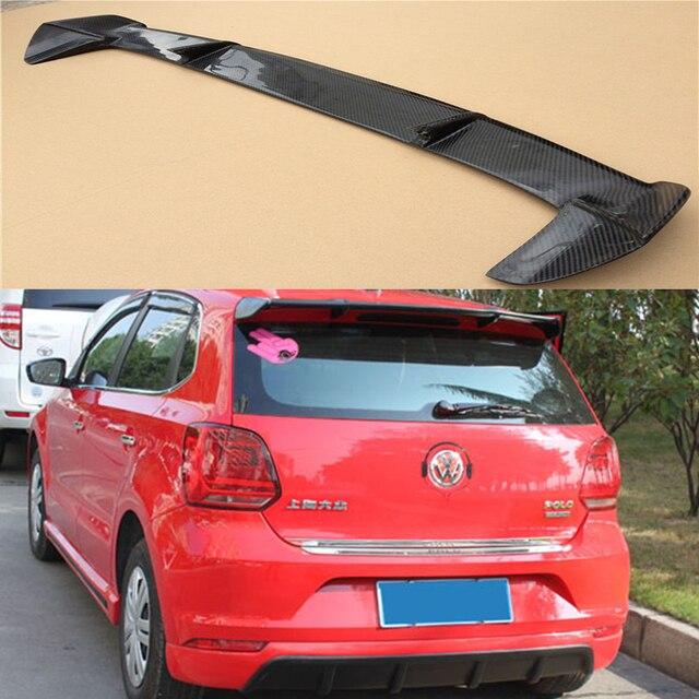 polo carbon fiber rear roof spoiler wing for volkswagen vw. Black Bedroom Furniture Sets. Home Design Ideas