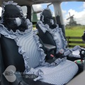 high-quality 19 PCS Classic Black And White Grid Car Seat Covers Sexy Car Seat Cushion Pad With Steering Wheel Cover Gp72