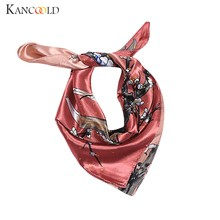 KANCOOLD Scarf women Elegant Head Neck Hair Tie Silk Satin Scarf Shawl Wrap Kerchief high quality fashion Scarf Women 2018Nov22(China)