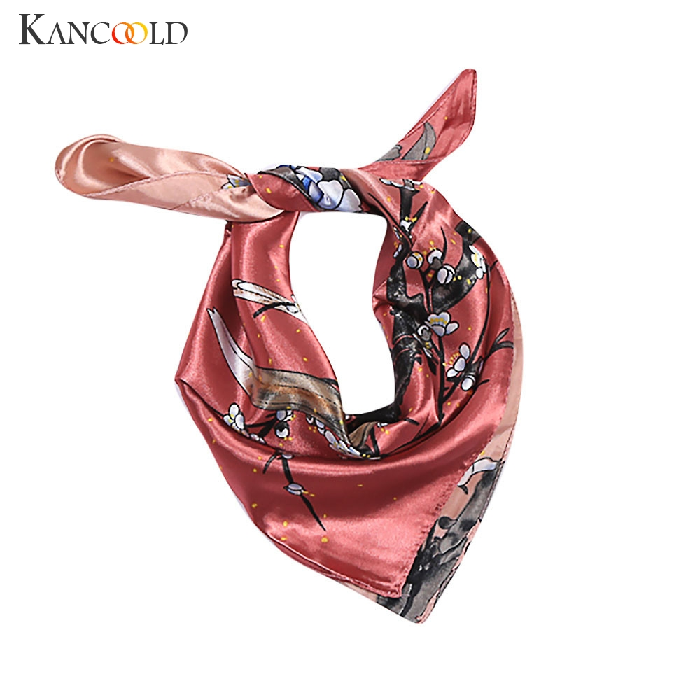 KANCOOLD   Scarf   women Elegant Head Neck Hair Tie Silk Satin   Scarf   Shawl   Wrap   Kerchief high quality fashion   Scarf   Women 2018Nov22
