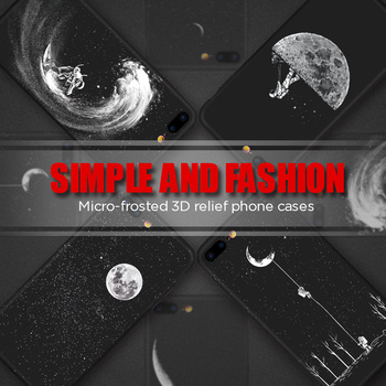 Space Moon Astronaut Phone Cases For iPhone 6, 7, 8, X, XR, XS MAX 1