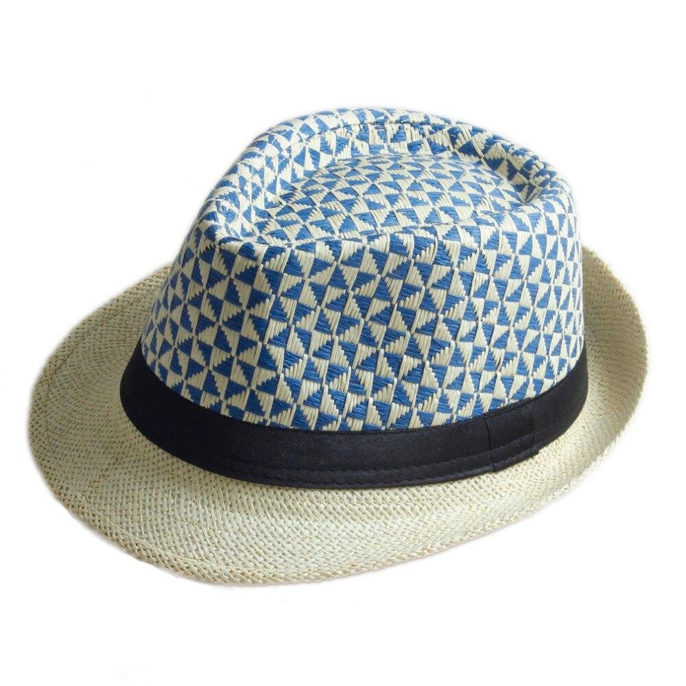 Uomini di estate delle donne del cappello di fedora trilby gangster cap  beach sun di paglia cappello panama cappello della spiaggia in magazzino!!!  in ... 94a76e0de5f0