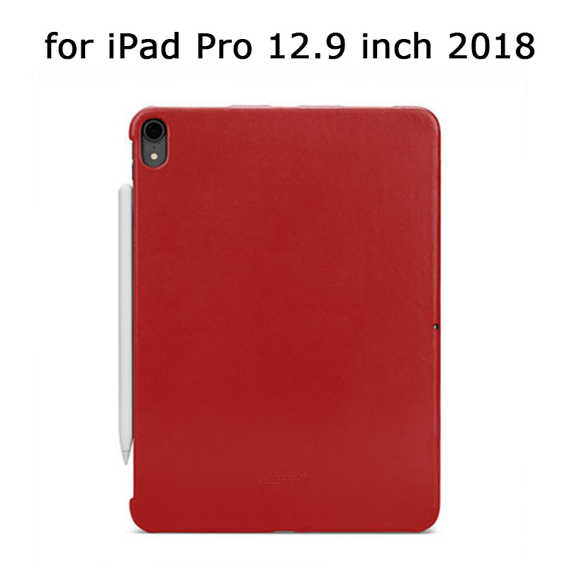 "Slim Back Protective Tablet Case Cover for iPad Pro 12.9"" 2018 Ultra-thin Genuine Leather Shell Skin for iPad Pro 12.9 inch"