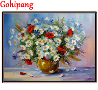 Oil Painting Calligraphy By Numbers Canvas Brush Figure Drawing Coloring By Number Flowers Decor Adult Painting