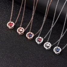 SHEON Beating heart Pendants Neckalce 925 Sterling Silver Cubic Zirconia Heartbeat Necklaces For Women Jewelry