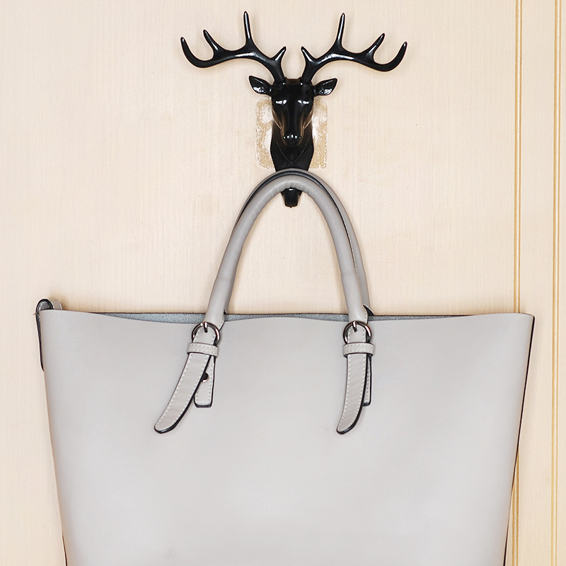 Self Adhesive Antlers American Style For Bedroom Living Room Wall Coat Keys Bags Clothes Hook Wall Decor Hooks Storage Hangers