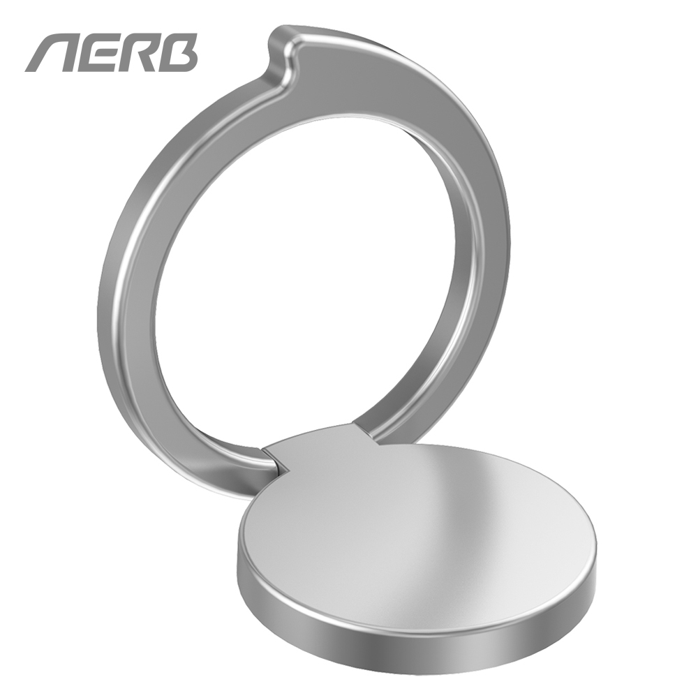 Aerb Comma Shaped Design 360 Degree Rotating Zinc Alloy Finger Ring Holder Stand For iPhone X 8 Samsung Metal Cellphone Tablet