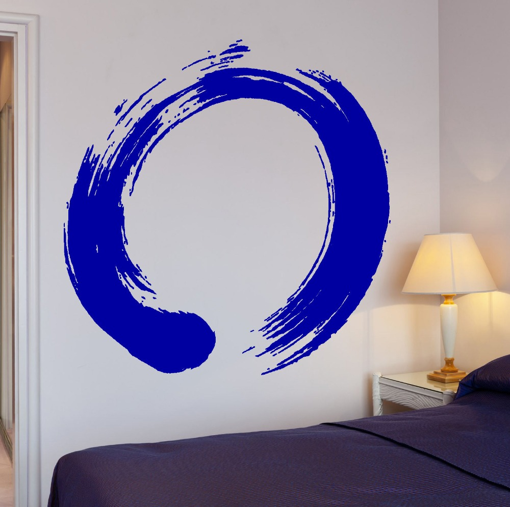 Home Decor Mural Art Wall Paper Stickers ~ Art removable vinyl decal circle enso zen buddhism