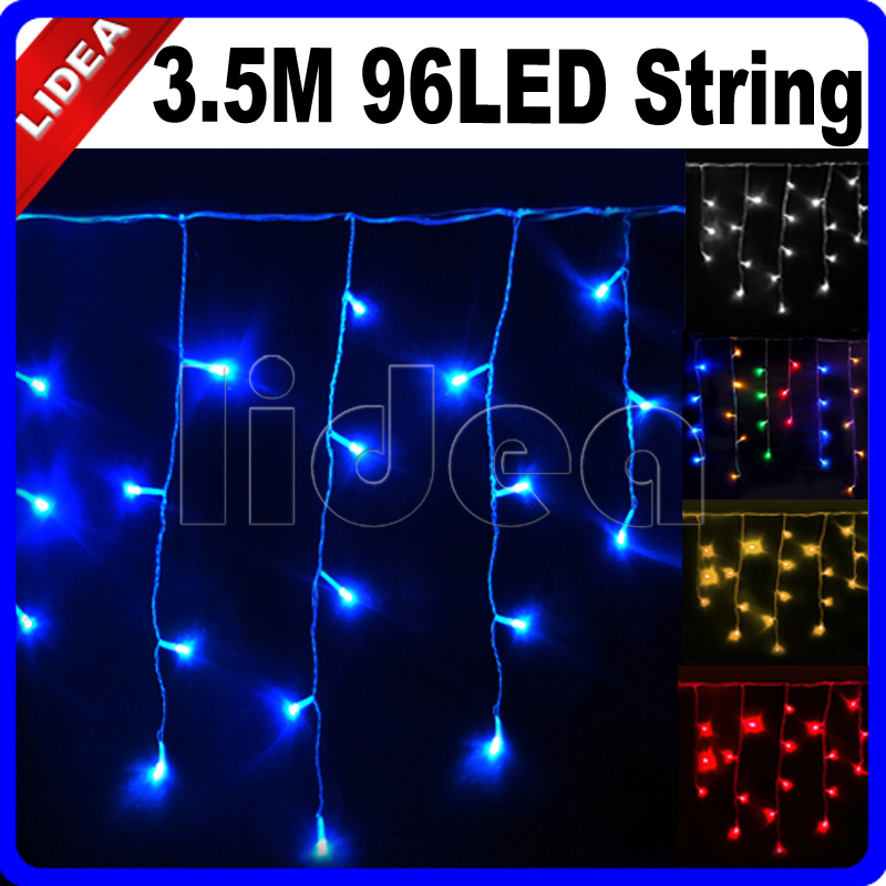 3.5M 96 LED 9 Colors Wedding New Year Christmas Garland Cord Lamp - Holiday Lighting