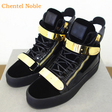 Casual Shoes Sneakers Flats Comfortable Black-Color Male Lace-Up Brand Flock Party Metal