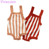 Baby Girl Bodysuit Spring Overalls For Newborn Infant Sleeve Jumpsuits Striped Knit Toddler Kids Coverall Clothes
