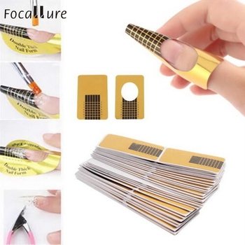 100pcs Nail Art Extension Sticker Guide Form Acrylic Professional Nail Tools Gel Nail Polish Curl Tips For Women 18jul27 spotter blacharski
