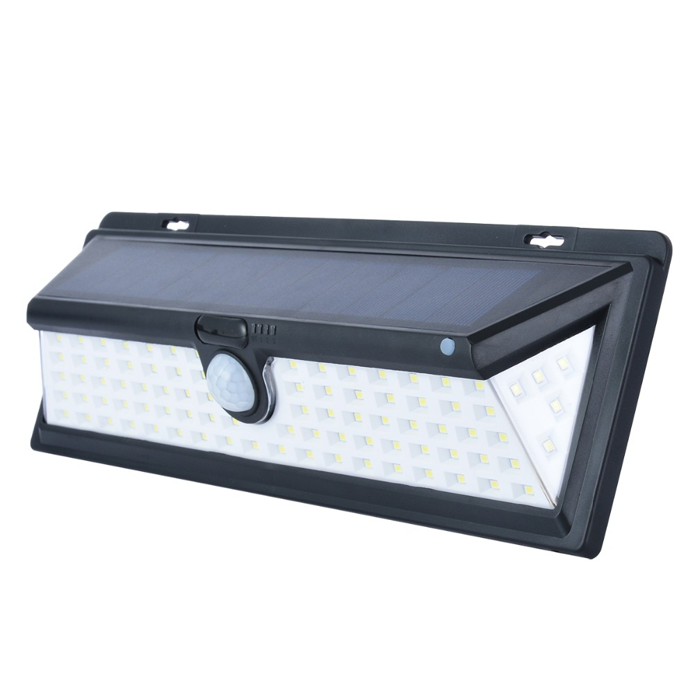 Waterproof 90 LED Solar Light PIR Motion Sensor Wall Light Emergency Pathway Wall Solar Lamp for Outdoor Garden
