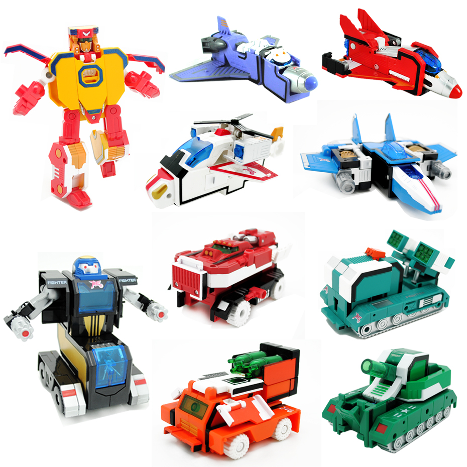 2016 Transform Number Robots Toys Montessori Creative Assembling Educational Preschool Action Figures Sound Light Toys Set little white dragon assembling toys educational toys girl fantasy girls beach villa 423