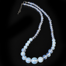 цена на 6 mm-14 mm Light Blue Beads had A Transparent sheen ,Easy to Match  Opal Necklace.