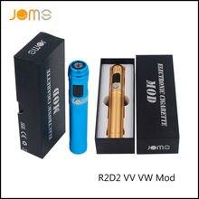 RU Stock!Original JomoTech R2D2 VV VW Vape Mod OLCD 5-15W 3.0-6.0V Electronic Cigarette Aluminum Alloy Vaporizer 4 Color Jomo-89