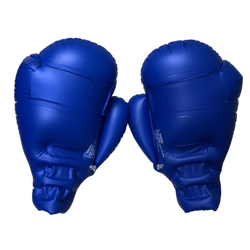 1pair Training Equipment Inflatable Boxing Gloves Body Building Children Adults