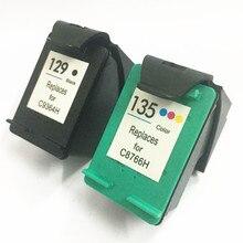 For HP 129 135 Ink Cartridge for Deskjet 5940 5943 D4163 6940 6983 Photosmart 2570 2573 printer C9364HE C8766HE
