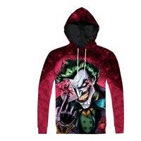 Joker Hoodies DC Comics Green Hair Batman Joker 3d Print Harley Quinn Sweatshirt For Men Women