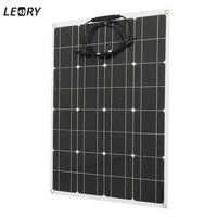 LEORY 80 Вт 12 В Гибкая солнечная панель + провод солнечных батарей DIY батарея системы наборы для Camper RV лодка насос свет бытовое зарядное устройст