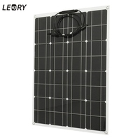 LEORY 80W 12V Flexible Solar Panel + Wire Solar Cells DIY Battery System Kits For Camper RV Boat Pump Light Home Battery Charger