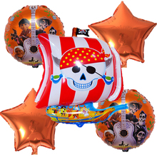 5pcs/set Halloween pirate ship combination foil balloon party decoration campus free shipping