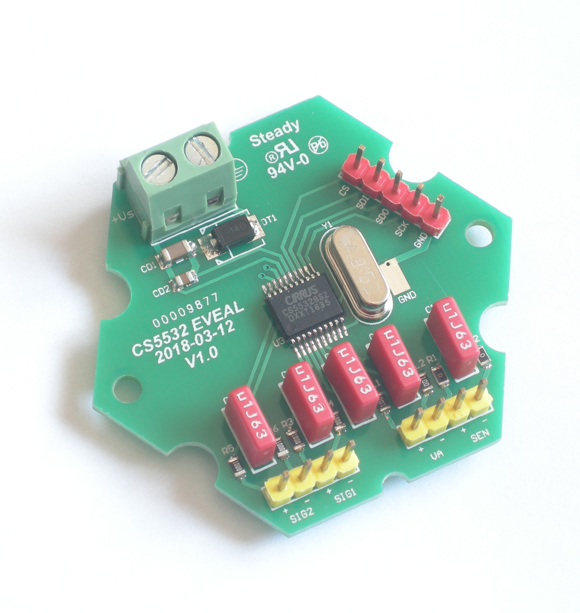 Cs5532 Modulo 24 bitADC di Alta Precisione di PesaturaCs5532 Modulo 24 bitADC di Alta Precisione di Pesatura