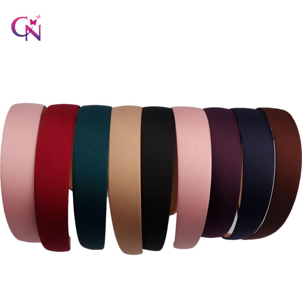 Hot 1PC Plastic Fashion Canvas Wide Headband Hair Band Headwear Solid Hair Accessories For Women