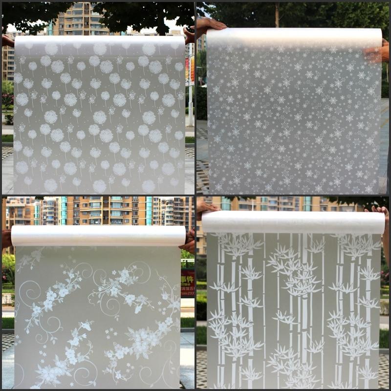 45 cm * 200 cm largo autoadhesivo Películas ventana Películas vidrio esmerilado puerta corredera ventana del baño Adhesivos translúcido opaco #2-64