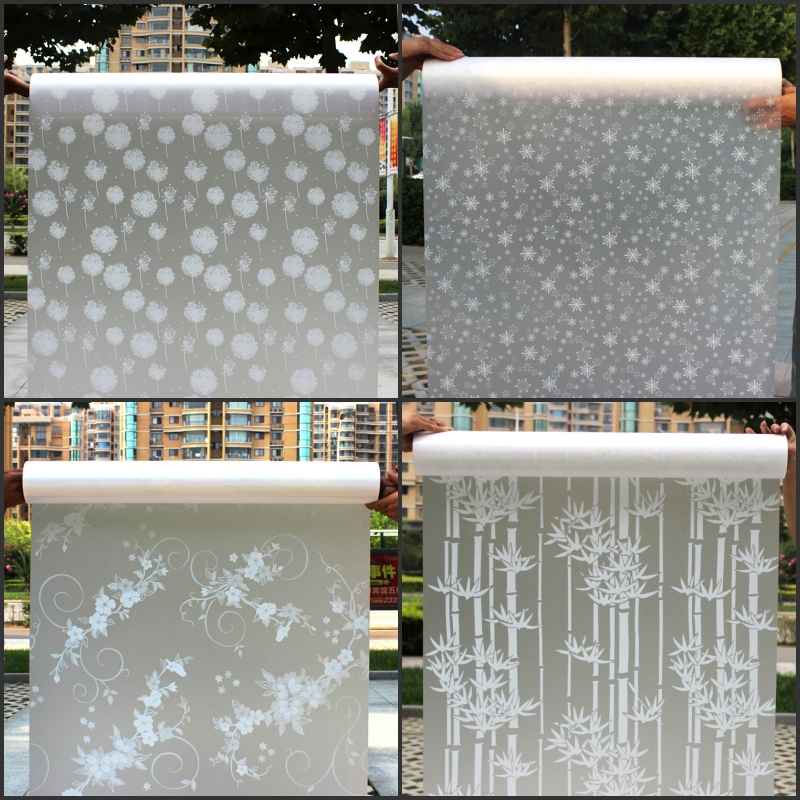 45CM*200CM Long Self-adhesive Film Window film Frosted Glass Sliding Door Bathroom Window Stickers Translucent Opaque #2-64