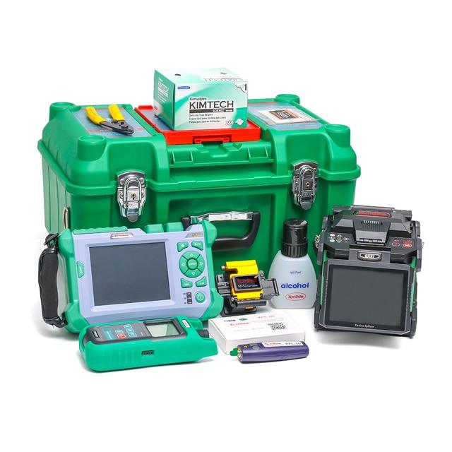 KOMSHINE QX50-P2 OTDR 1310/1550/ 1625 PON OTDR 32/30/28db + GX37 fusion splicer machine + OPM + OLS + VFL