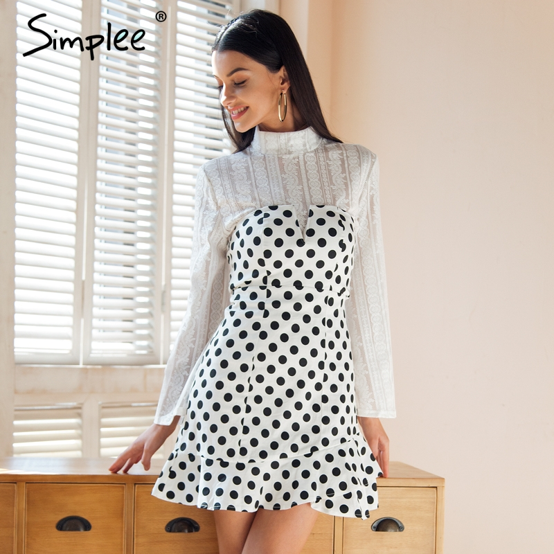 Aliexpress.com : Buy Simplee Strapless polka dot mini ...