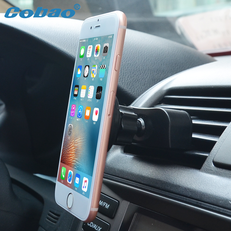 Cobao Magnetic CD Slot Car Phone Holder Universal 360 Rotatable Magnet Car Air Vent Mobile Phone Holder Stand for Xiaomi iPhone
