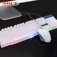 Wired PC Gamer Keyboard Mouse Set IP68 Waterproof 104 Keys Backlit Keyboard Gamer Silent For PC Computer Laptop&25